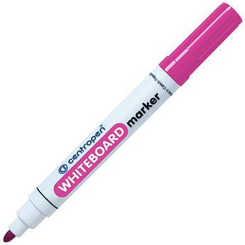 Маркер для магнітних сухостираємих дошок, рожевий, круглий пишучий вузол, Centropen 8559