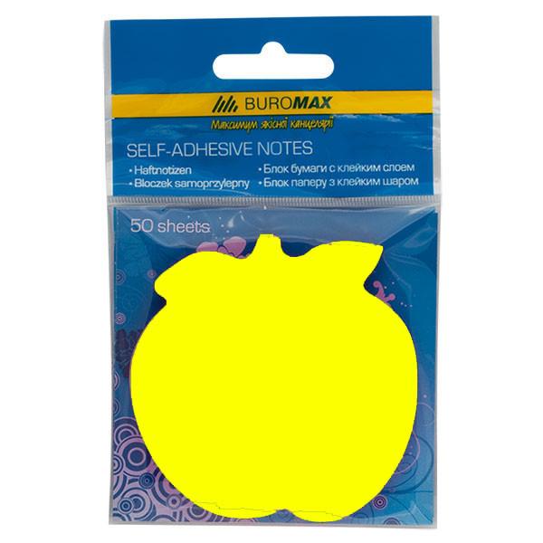 Блок клейкий Buromax BM.2360-99 неон желтый 50 листов яблочко