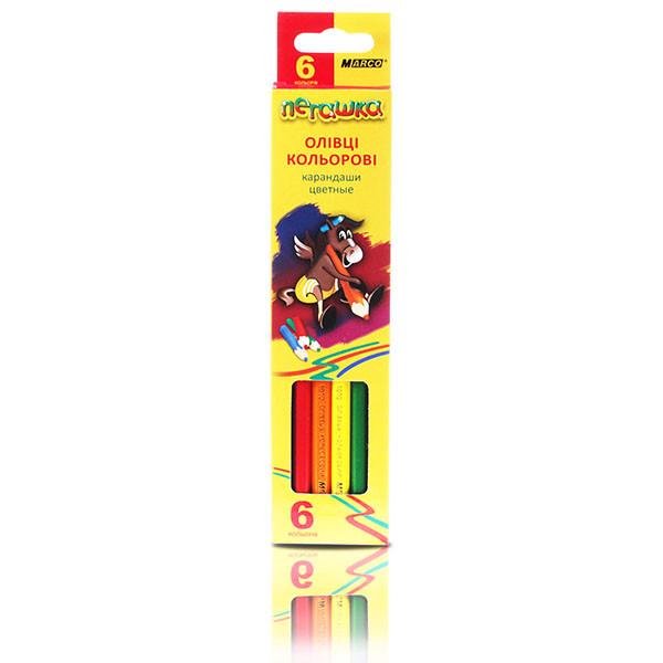 Карандаши цветные Marco Пегашка 6 цветов 1010-6CB