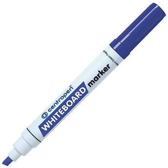 Маркер для магнітних сухостираємих дошок, синій, клиноподібний пишучий вузол, Centropen 8569