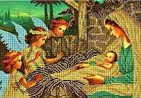 Схема для вышивки бисером Рождество Христово КМР 4154