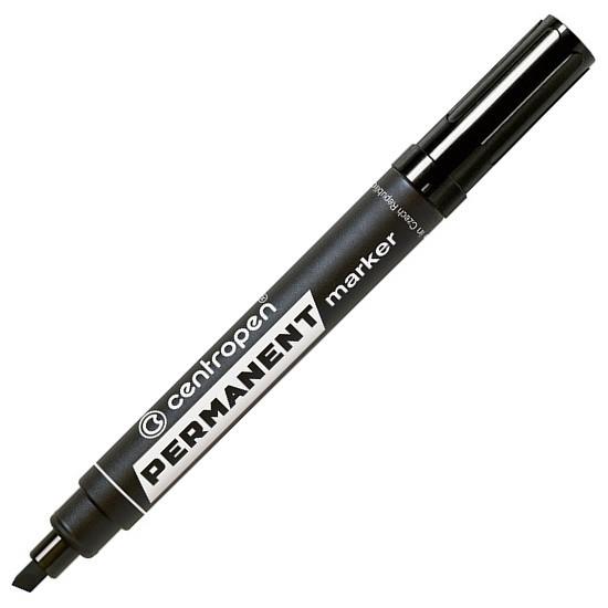 Маркер Centropen Permanent 8576 скошений 1-4,6 мм чорний