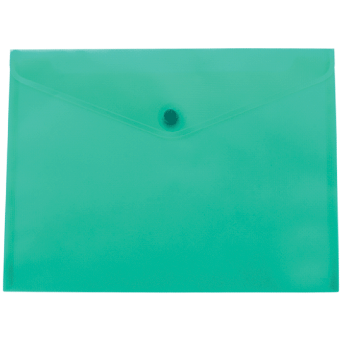 Папка на кнопке Buromax А5 BM.3936-06 бирюзовая прозрачная