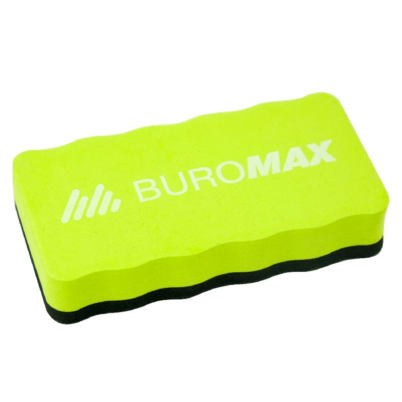 Губка для магнітно-маркерних дошок, магнітна, Buromax BM.0074-15, зелена