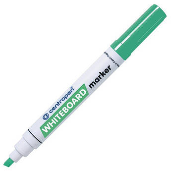 Маркер для магнітних сухостираємих дошок, зелений, клиноподібний пишучий вузол, Centropen 8569