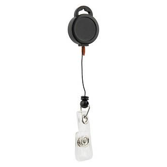 Клип-рулетка для бейджа черная, Axent 4519-01-A