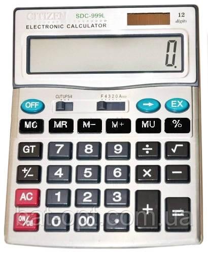 Калькулятор настольный Citizen 999 12-разрядный (200x155x26мм) copy