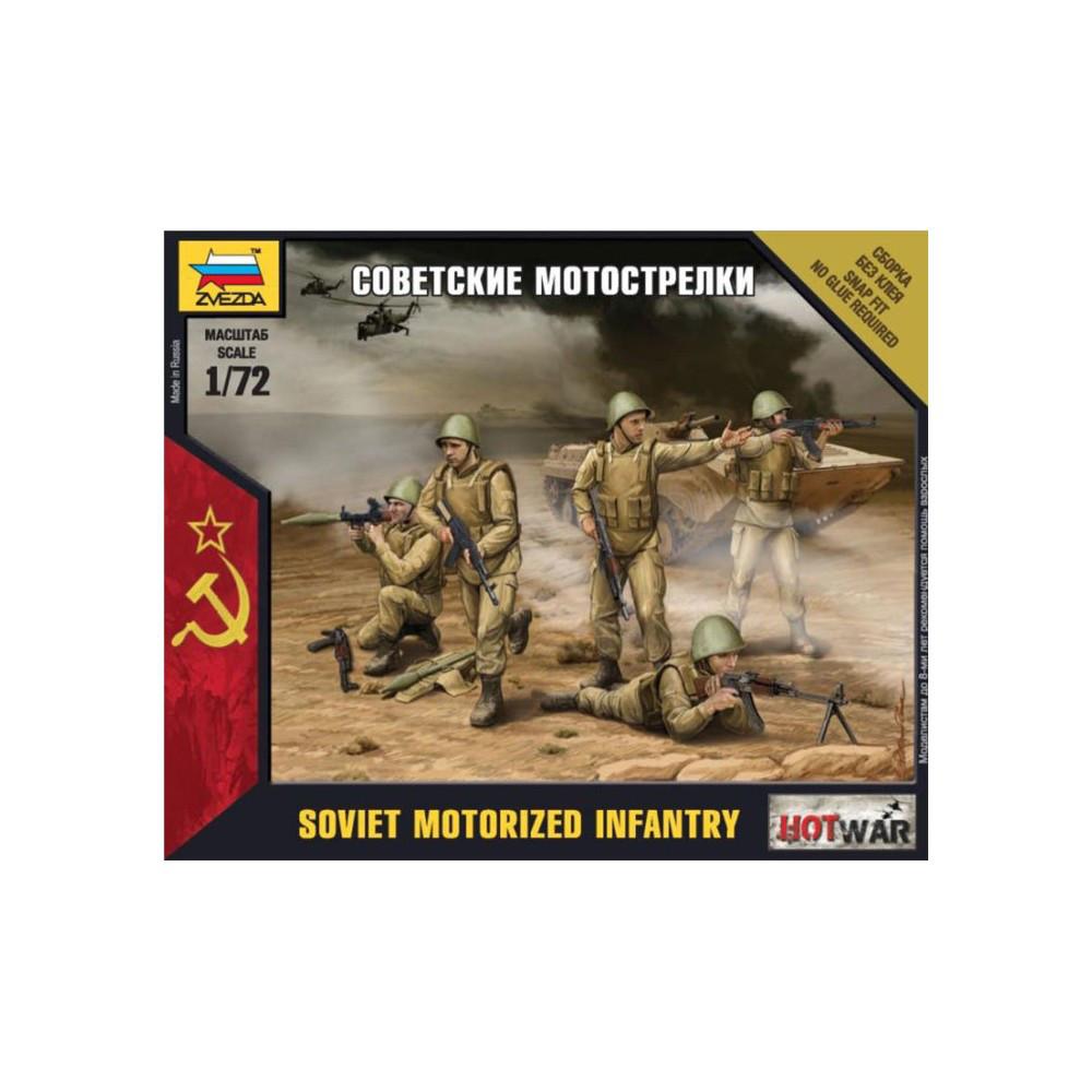 СОВЕТСКИЕ МОТОСТРЕЛКИ. 1/72 ZVEZDA 7404