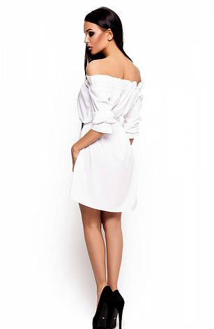 Женское платье Мила, белое, р.42-46, фото 2