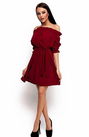 Женское платье Мила, марсала, р.42-46, фото 2