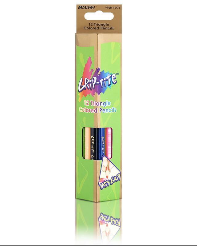 Карандаши цветные треугольные Marco Grip-Rite 12 цветов 9100-12