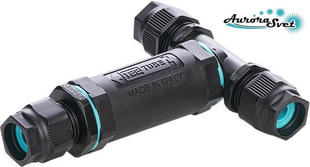 Герметичный кабельный разветвитель на 5 контактов. Водонепроницаемый соединитель герметичный. Защита от воды.