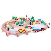 Деревянная железная дорога EcoToys HJD93940 75 елементов