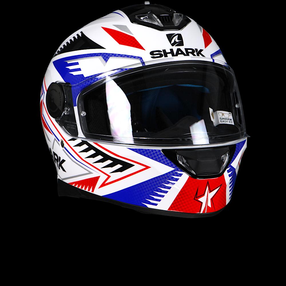 Шлем Shark Skwal 2 Draghall р.XL, бело-синий