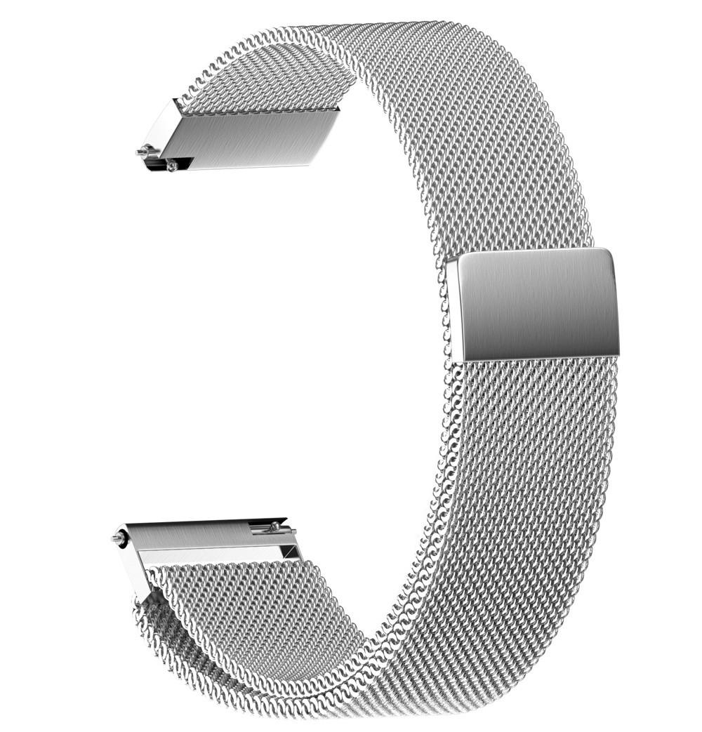 Браслет для часов из нержавеющей стали, миланский стиль. 20 мм