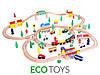 Деревянная железная дорога EcoToys HJD93950A 100 елементов