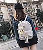 Стильний жіночий набір 4в1 з заклепками і пензликами, рюкзак, клатч, космо, візитниця, фото 6