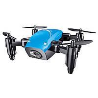 Квадрокоптер Aircraft S9hw Drone mini з камерою і wi-fi Блакитний, фото 1