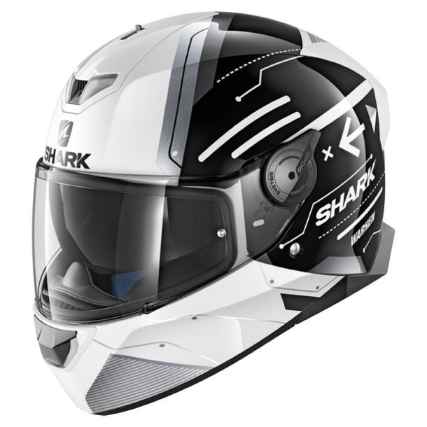 Шлем Shark Skwal 2 Warhen р.M, черно-белый