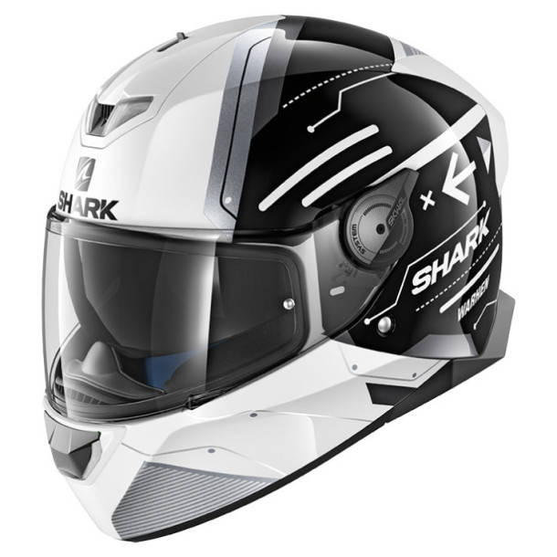 Шлем Shark Skwal 2 Warhen р.L, черно-белый