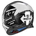 Шлем Shark Skwal 2 Warhen р.M, черно-белый, фото 2