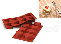 Силиконовая форма для выпечки сердечки Silikomart  SF040 Италия - 05511