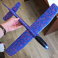 Метательный Самолетик планер Airplane из пенопласта синий