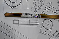 Шпилька М8 резьбовая латунная DIN 976, фото 1