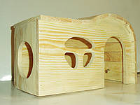 Домик дерево для шиншил, грызунов большой 2 входа