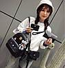 Стильний жіночий набір 4в1 з вушками і мордочкою аніме котика, рюкзак, клатч, космо і візитниця, фото 3