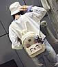 Стильний жіночий набір 4в1 з вушками і мордочкою аніме котика, рюкзак, клатч, космо і візитниця, фото 2