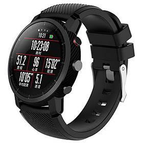 Силіконовий ремінець Primo для годин Xiaomi Huami Amazfit SportWatch 2 / Amazfit Stratos - Black