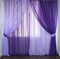Легкие красивые шторы из шифона купить недорого