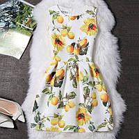 Платье женское жаккардовое с лимонами M, L, фото 1
