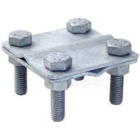 Соединитель провод-провод d8мм с 4 болтами, горячеоцинкованная сталь DKC