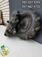 Комплект колёс в сборе к мотоблоку Нева 10-4.00 б/у, передние колеса для мототрактора