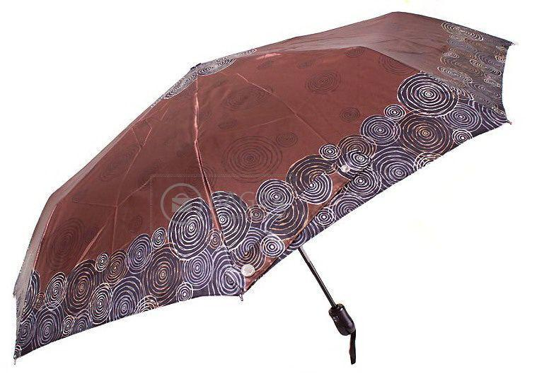 Темный женский зонт автомат  DOPPLER DOP74665GFG-GR-2, Бордовый
