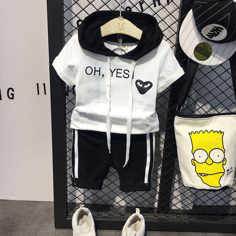 "Летний костюм для мальчика футболка и шорты ""oh yesi"""