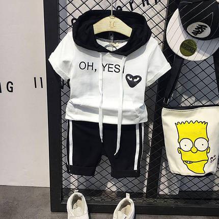 "Летний костюм для мальчика футболка и шорты ""oh yesi"", фото 2"