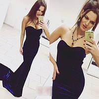 062b3f1d5f1 Длинное бархатное вечернее платье в пол со шлейфом