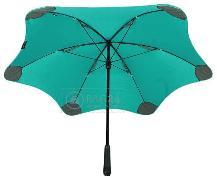 Элегантный женский зонт-трость, мех, противоштормовой BLUNT Bl-lite-2-mint, Бирюзовый
