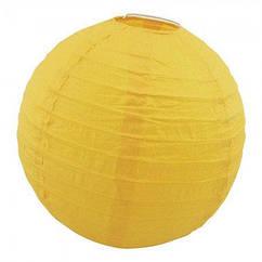 Китайский фонарик шар (35см) желтый