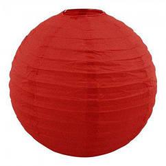 Китайский фонарик шар (35см) красный