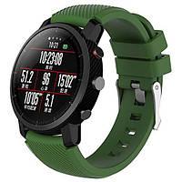 Силиконовый ремешок Primo для часов Xiaomi Huami Amazfit SportWatch 2 / Amazfit Stratos - Army Green