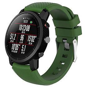Силіконовий ремінець Primo для годин Xiaomi Huami Amazfit SportWatch 2 / Amazfit Stratos - Army Green