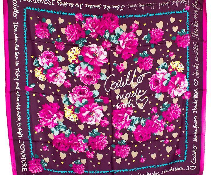 Яркий цветастый платок для женщин ETERNO ES4004, Розовый