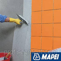 Быстро схватывающийся двухкомпонентный клей для керамогранита Mapei ELASTORAPID серый, фото 2