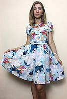 Платье летнее солнце-клёш из шифона П127, фото 1