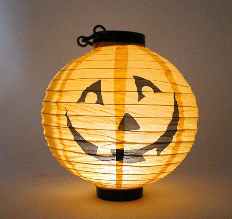 Китайский фонарик Джек с подсветкой (20см)