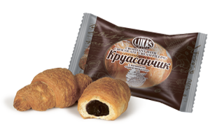 Круассанчик с начинкой крем- шоколад 1,4 кг Lukas